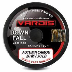 Поводковый материал Vardis Tackle DOWNFALL FS Semi-Stiff Skinline 20m 25lb Autumn Camou