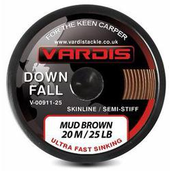 Поводковый материал Vardis Tackle DOWNFALL FS Semi-Stiff Skinline 20m 25lb Mud Brown
