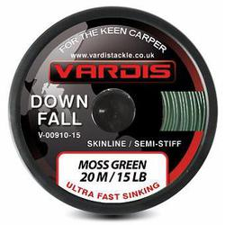 Поводковый материал Vardis Tackle DOWNFALL FS Semi-Stiff Skinline 20m 35lb Moss Green