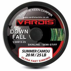 Поводковый материал Vardis Tackle DOWNFALL FS Semi-Stiff Skinline 20m 35lb Summer Camou