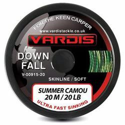 Поводковый материал Vardis Tackle DOWNFALL FS Super Soft Skinline 20m 30lb Summer Camou