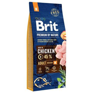 Корм для собак Brit Premium by Nature Adult M