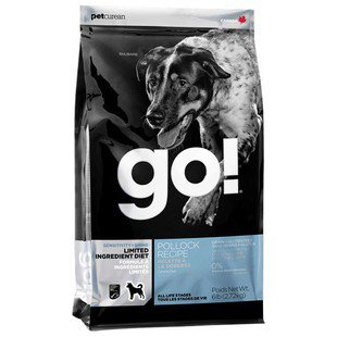 Корм для собак GO! Sensitivity + Shine Pollock Dog Recipe Limited Ingredient Diet, Grain + Gluten Free