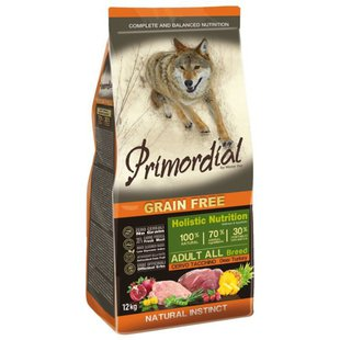 Корм для собак Primordial Grain Free Adult All Breed Deer Turkey